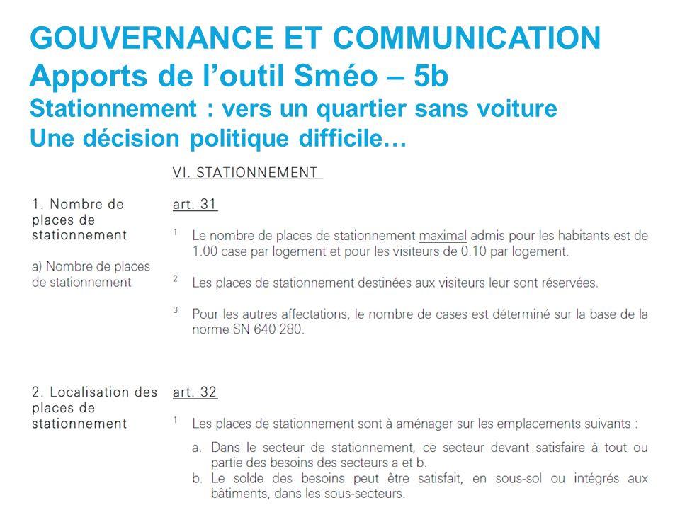 GOUVERNANCE ET COMMUNICATION Apports de l'outil Sméo – 5b