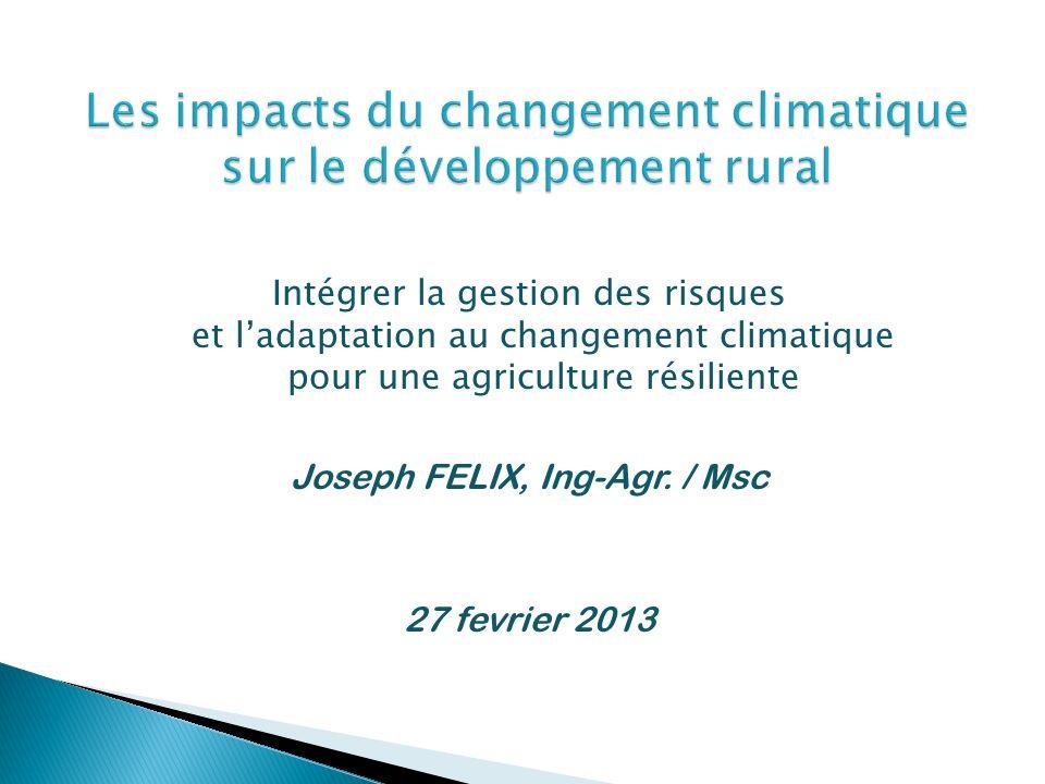 Les impacts du changement climatique sur le développement rural