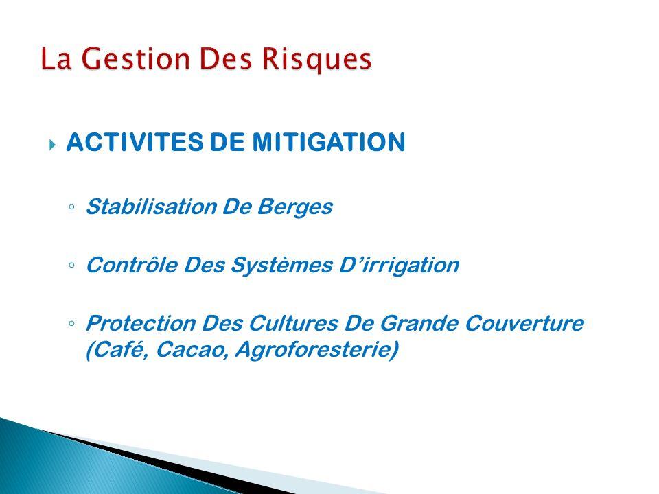 La Gestion Des Risques ACTIVITES DE MITIGATION Stabilisation De Berges