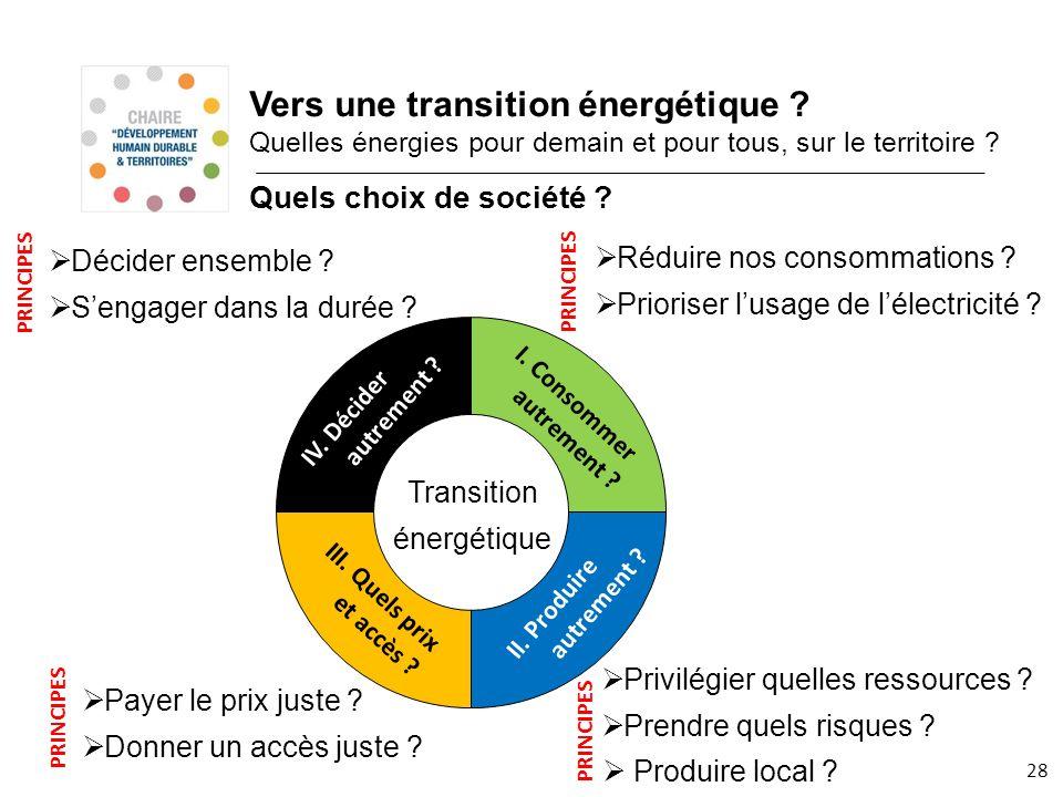 Vers une transition énergétique