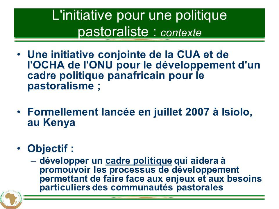 L initiative pour une politique pastoraliste : contexte