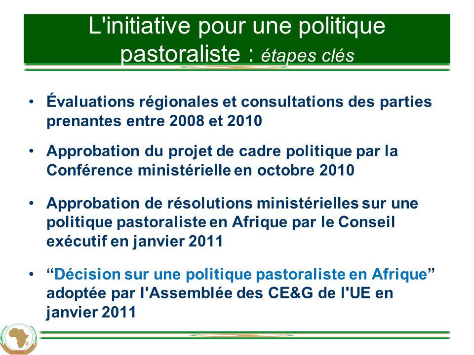 L initiative pour une politique pastoraliste : étapes clés
