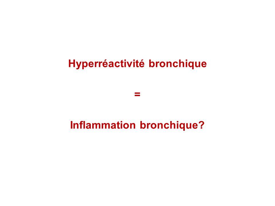 Hyperréactivité bronchique = Inflammation bronchique