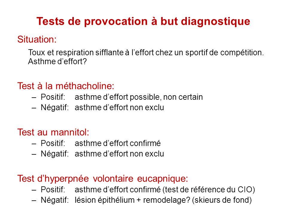 Tests de provocation à but diagnostique