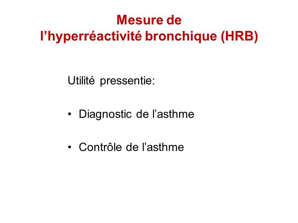 Mesure de l'hyperréactivité bronchique (HRB)