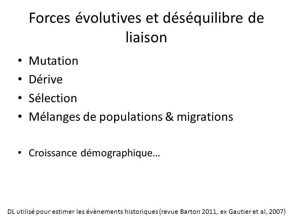 Forces évolutives et déséquilibre de liaison