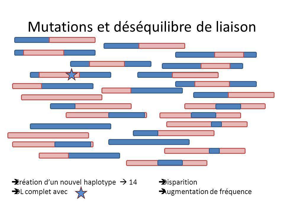 Mutations et déséquilibre de liaison