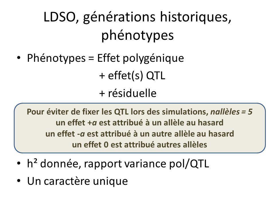 LDSO, générations historiques, phénotypes