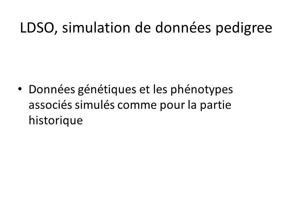 LDSO, simulation de données pedigree