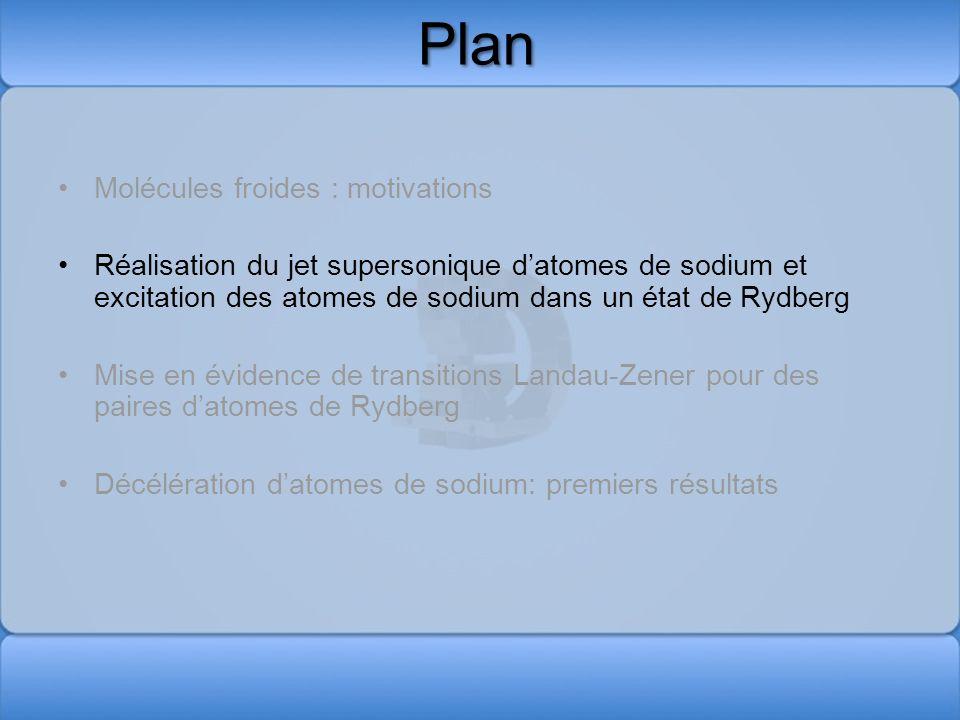 Plan Molécules froides : motivations