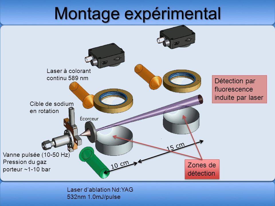 Montage expérimental Détection par fluorescence induite par laser