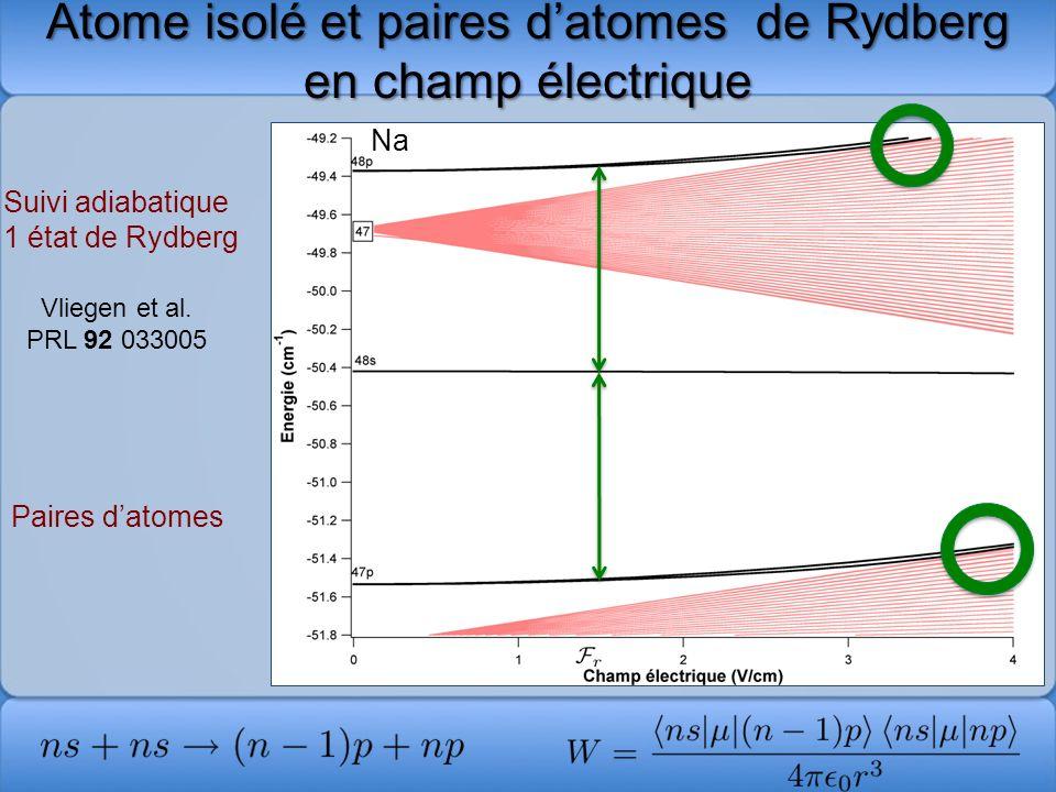 Atome isolé et paires d'atomes de Rydberg en champ électrique