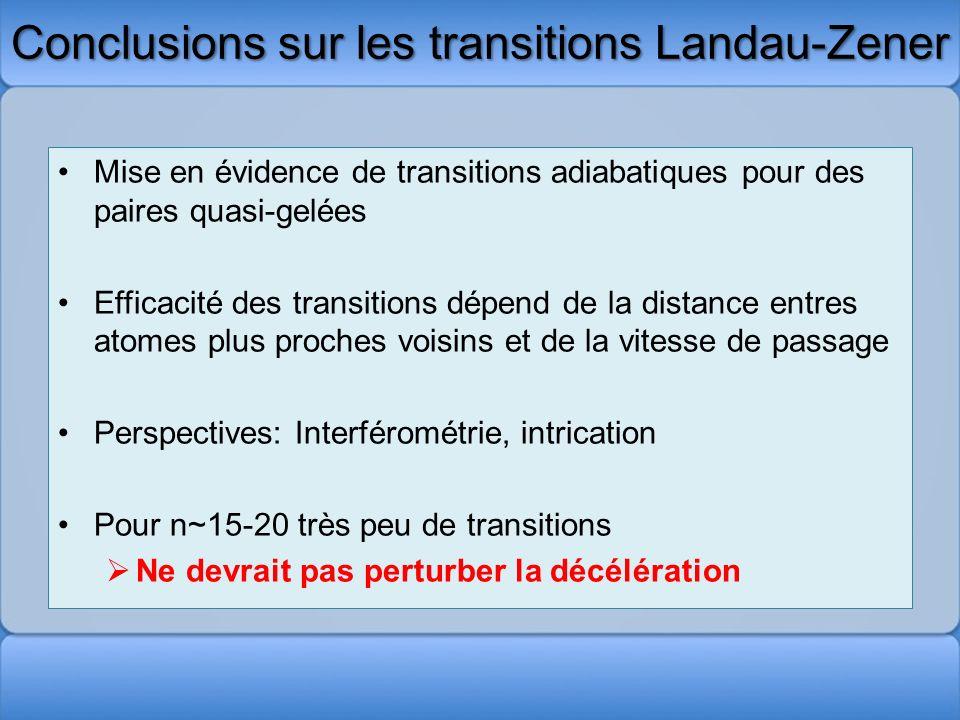 Conclusions sur les transitions Landau-Zener
