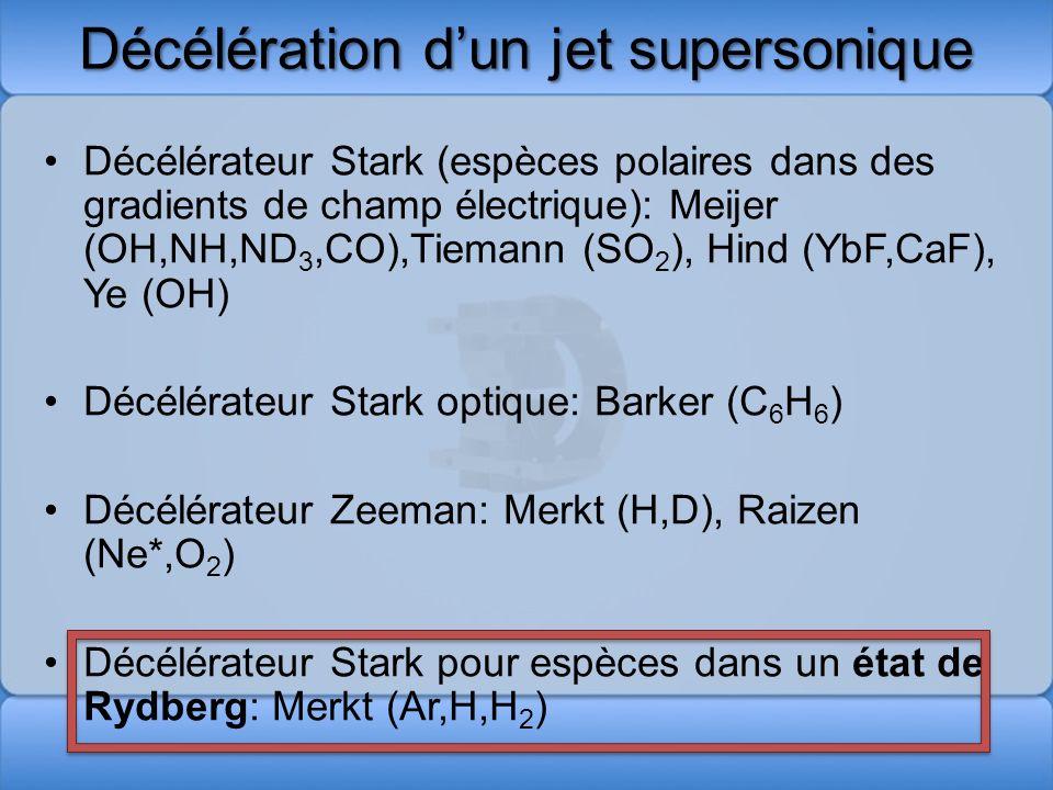 Décélération d'un jet supersonique