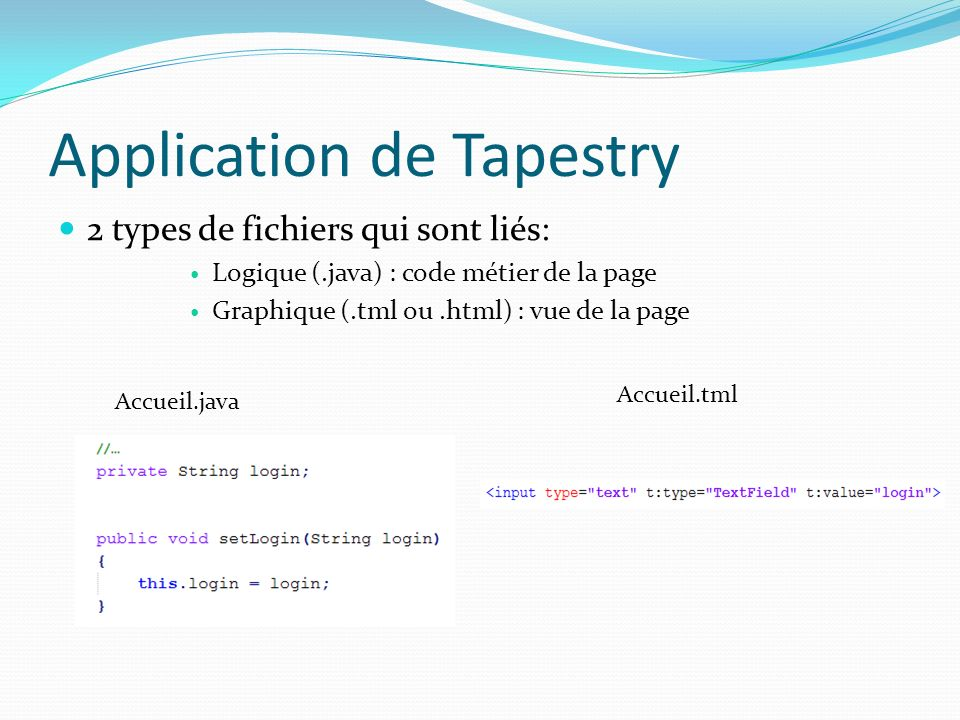 Application de Tapestry