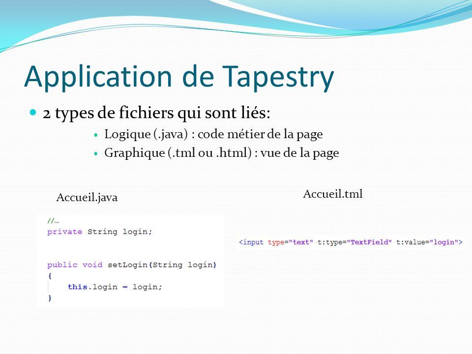 Application de Tapestry