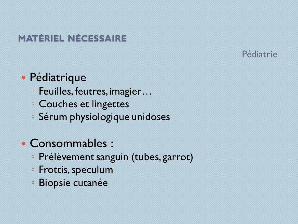 Pédiatrique Consommables : Feuilles, feutres, imagier…