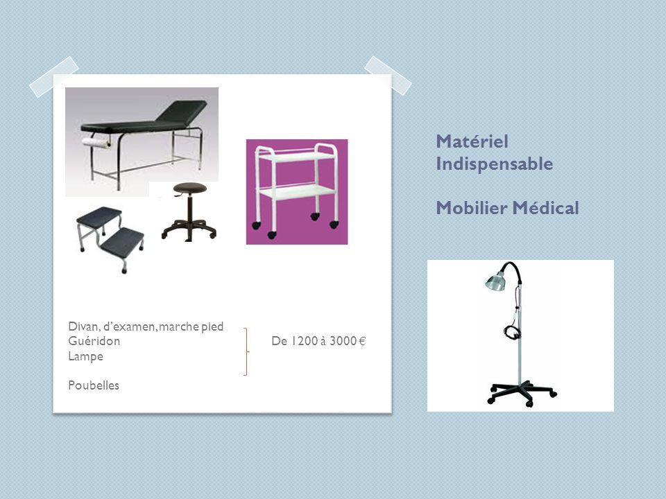 Matériel Indispensable Mobilier Médical