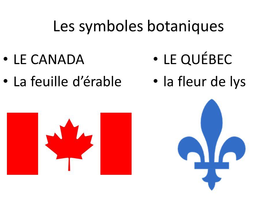 Les symboles botaniques