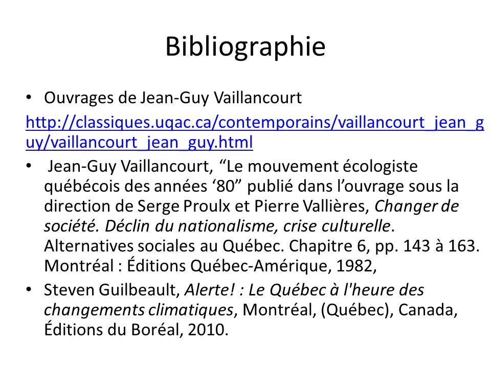 Bibliographie Ouvrages de Jean-Guy Vaillancourt