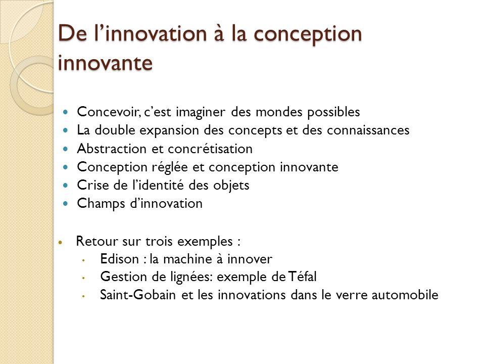 De l'innovation à la conception innovante