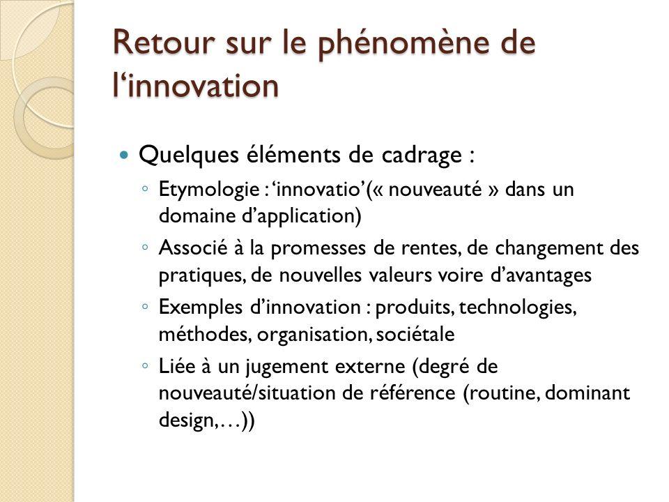 Retour sur le phénomène de l'innovation