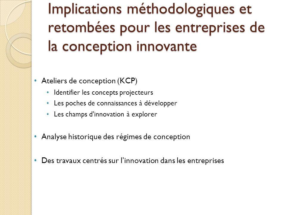 Implications méthodologiques et retombées pour les entreprises de la conception innovante