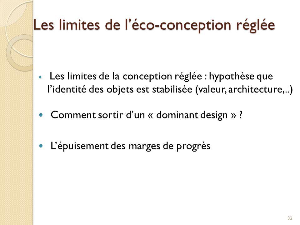 Les limites de l'éco-conception réglée