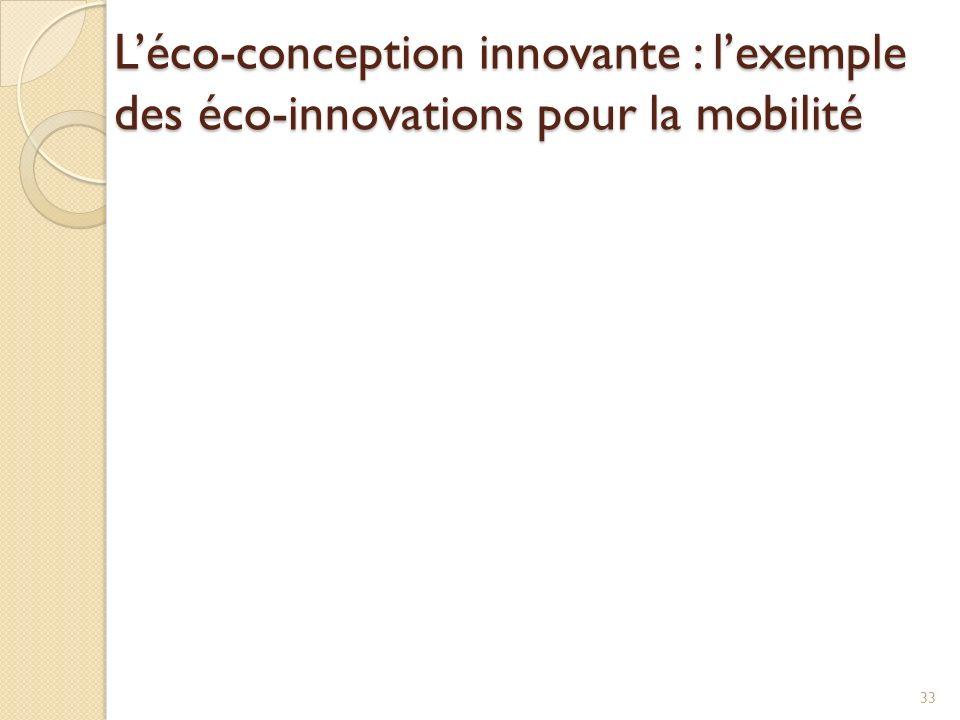 L'éco-conception innovante : l'exemple des éco-innovations pour la mobilité