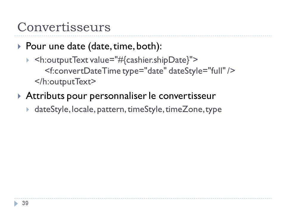 Convertisseurs Pour une date (date, time, both):