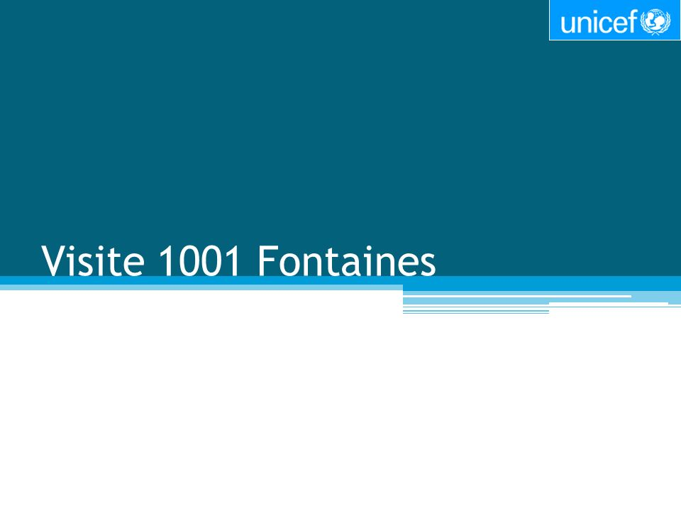 Visite 1001 Fontaines