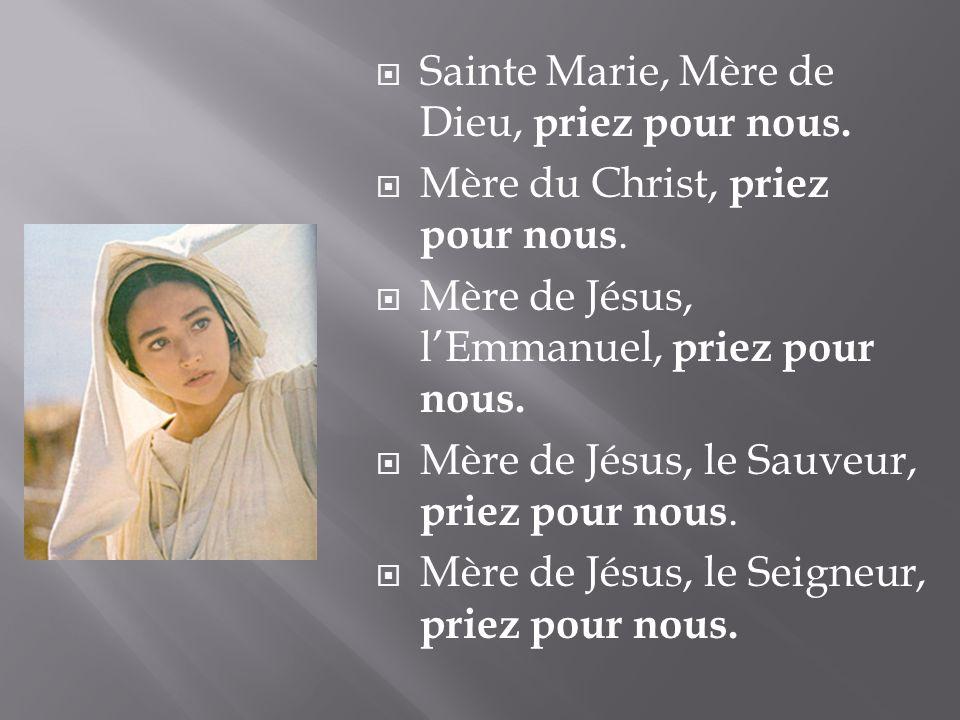 Sainte Marie, Mère de Dieu, priez pour nous.