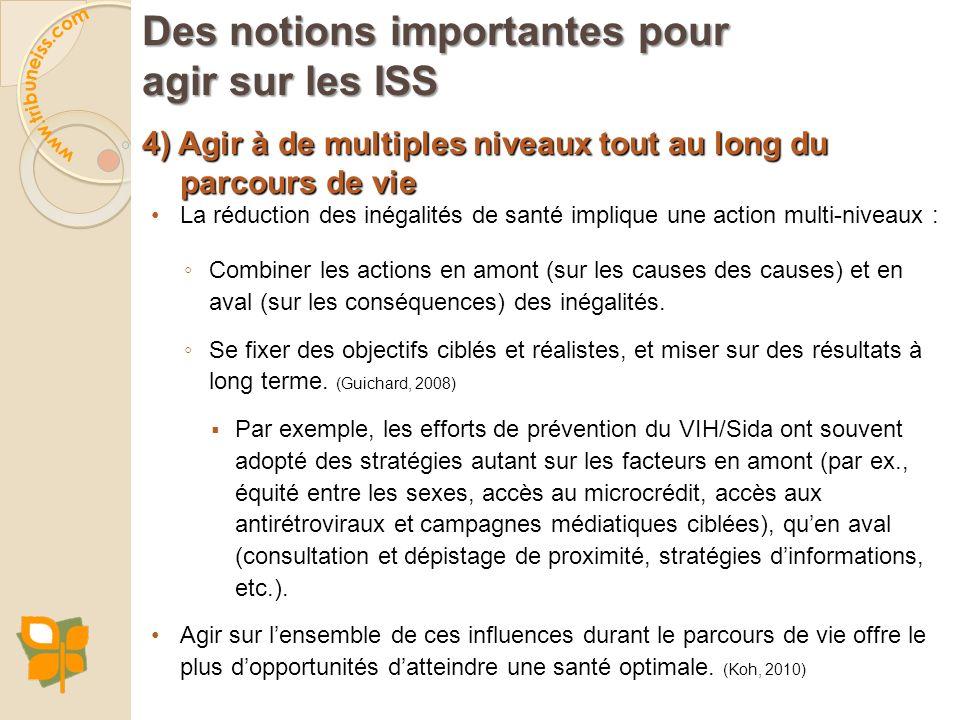 Les points d'entrée et pistes d'action pour agir sur les ISS