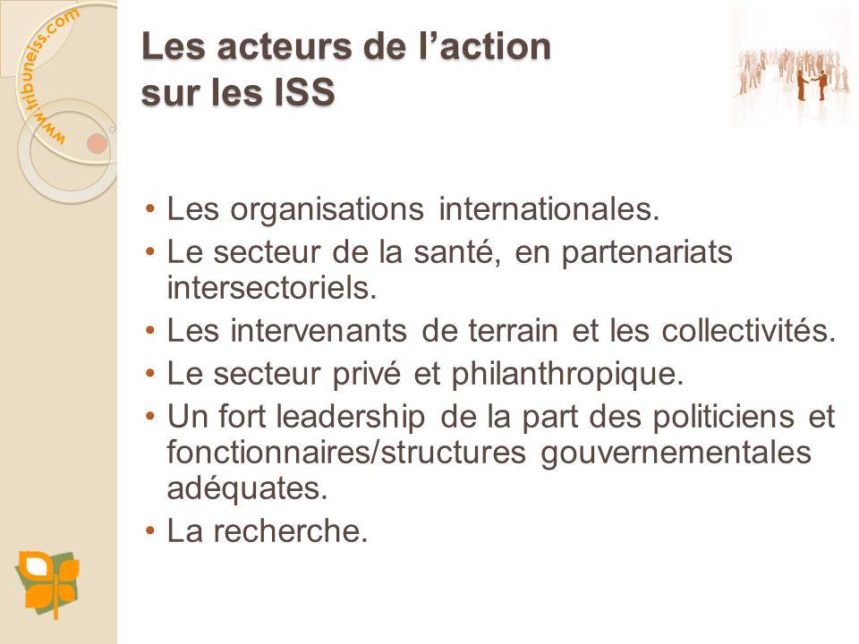 Les acteurs de l'action sur les ISS