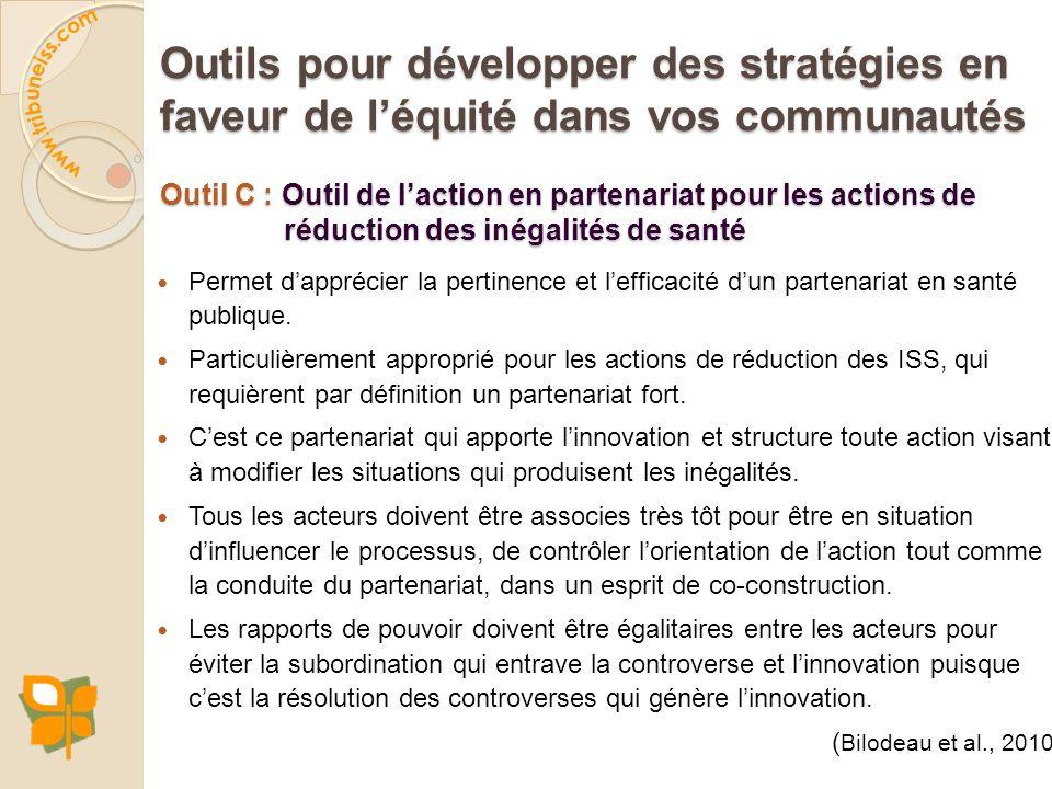 Outils pour développer des stratégies en faveur de l'équité dans vos communautés