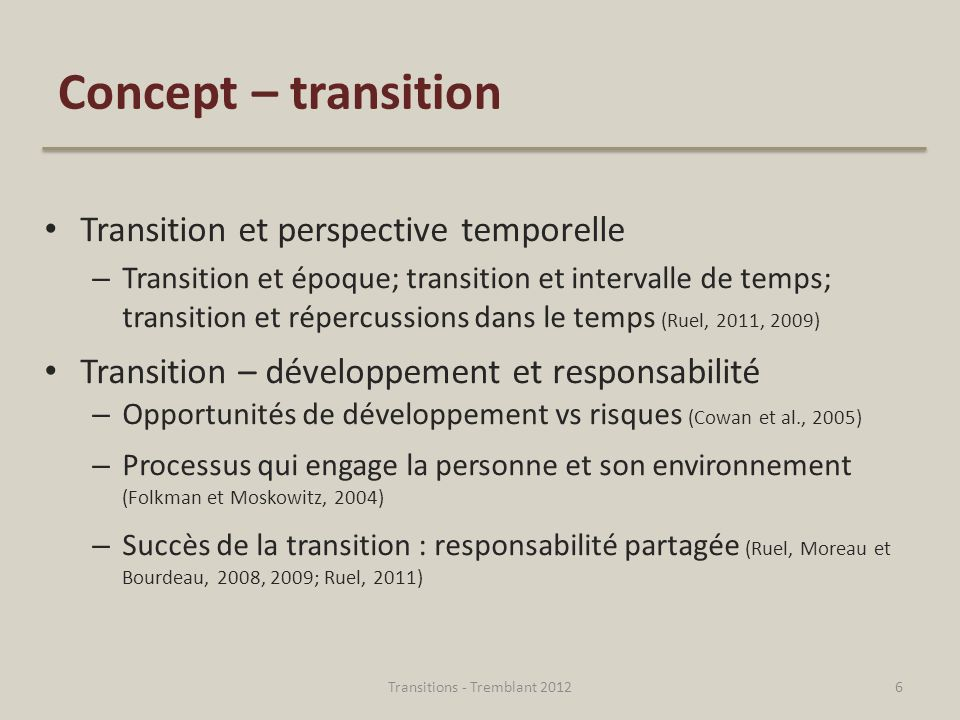 Transitions - Tremblant 2012