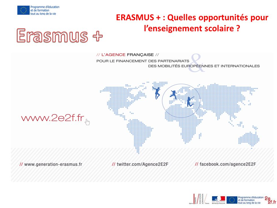 ERASMUS + : Quelles opportunités pour l'enseignement scolaire