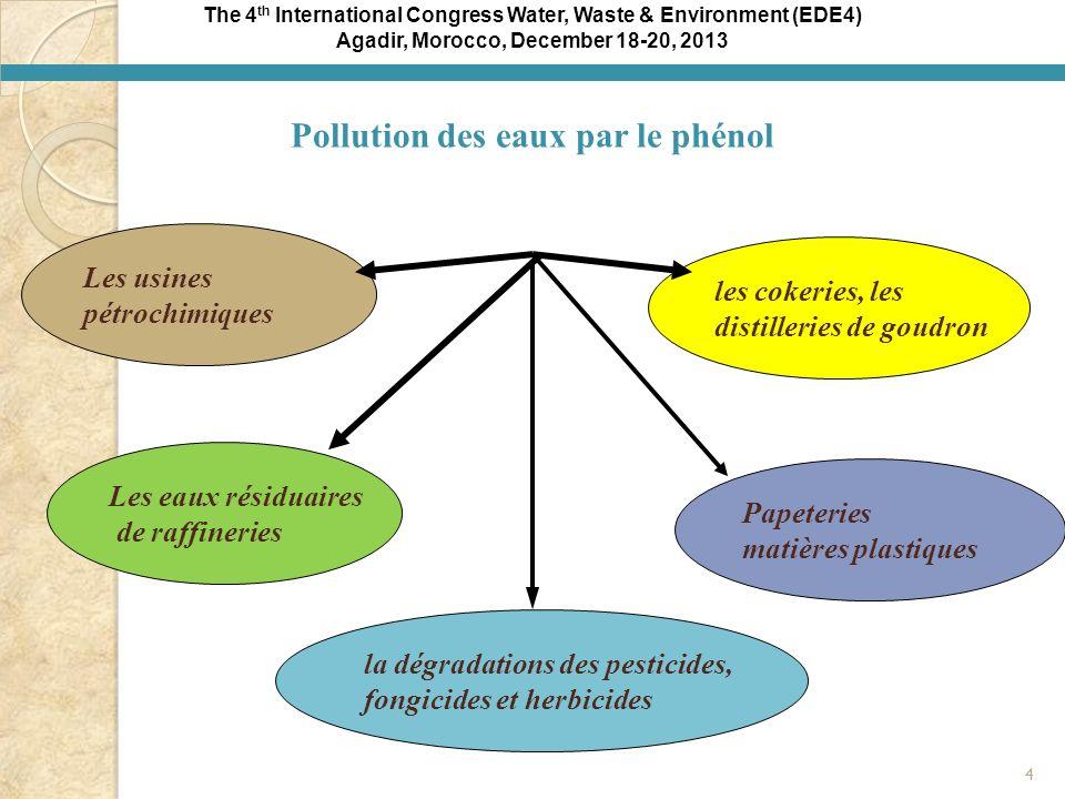 Agadir, Morocco, December 18-20, 2013 Pollution des eaux par le phénol
