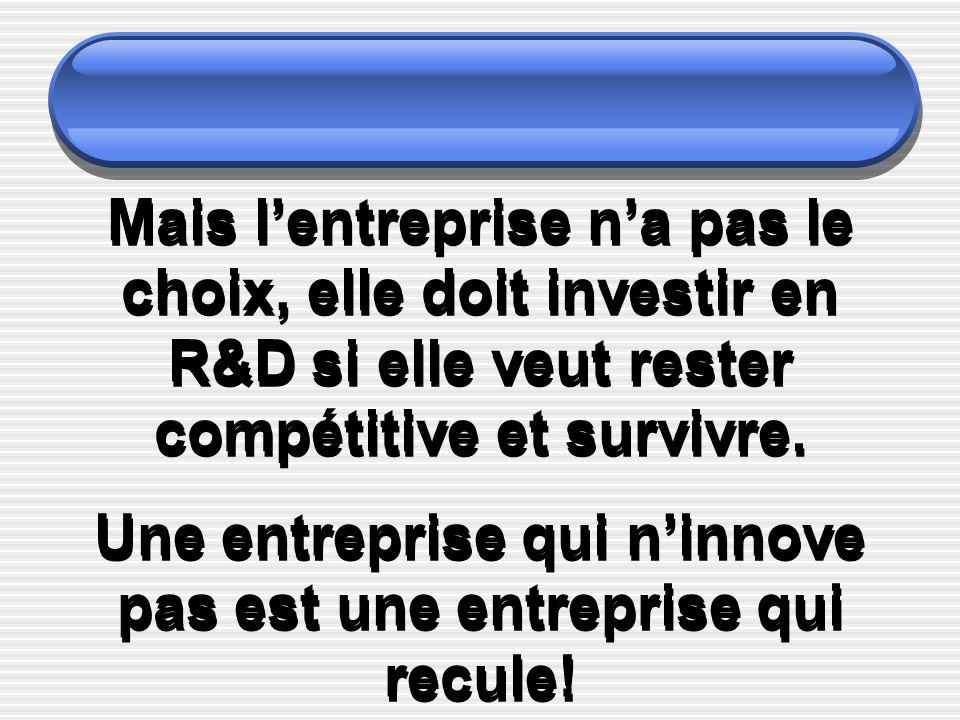 Une entreprise qui n'innove pas est une entreprise qui recule!