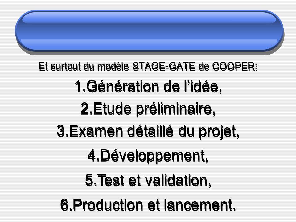 Et surtout du modèle STAGE-GATE de COOPER: