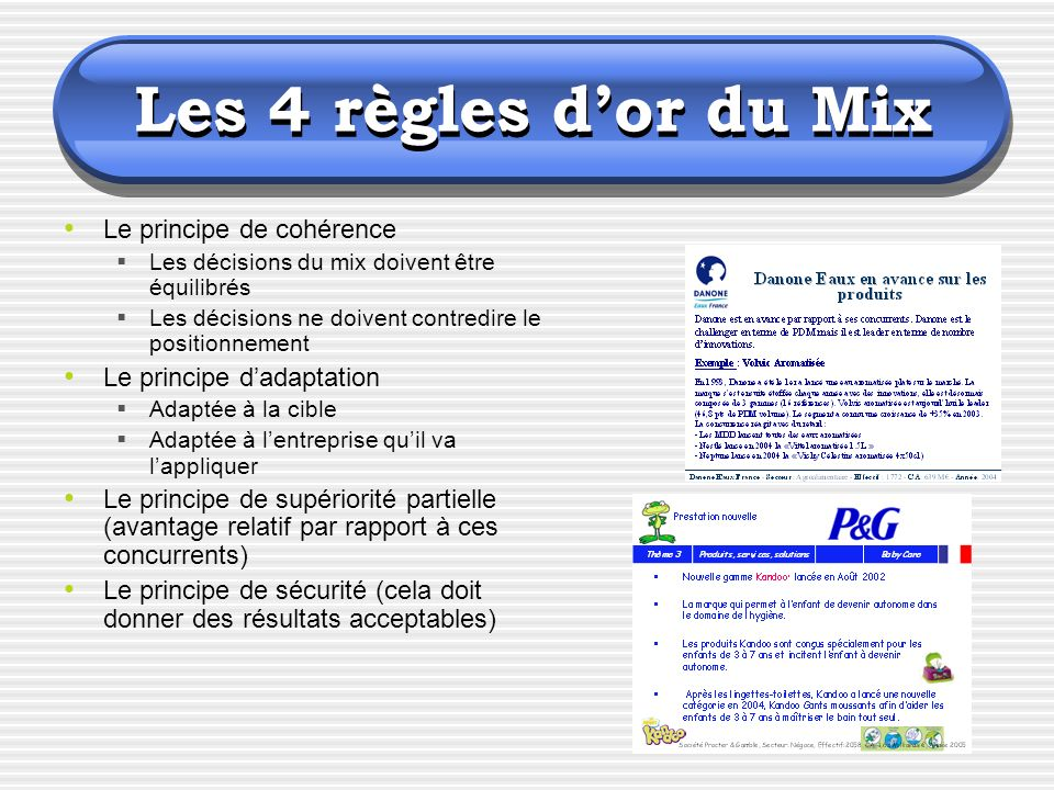 Les 4 règles d'or du Mix Le principe de cohérence