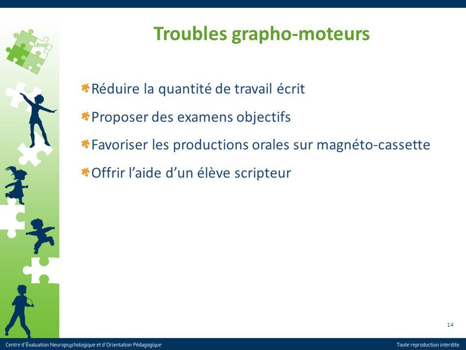 Troubles grapho-moteurs