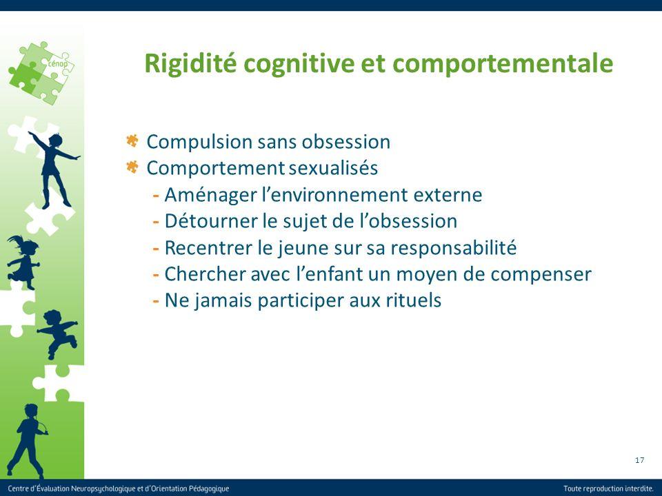 Rigidité cognitive et comportementale