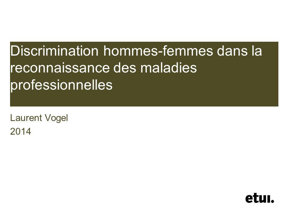 Discrimination hommes-femmes dans la reconnaissance des maladies professionnelles