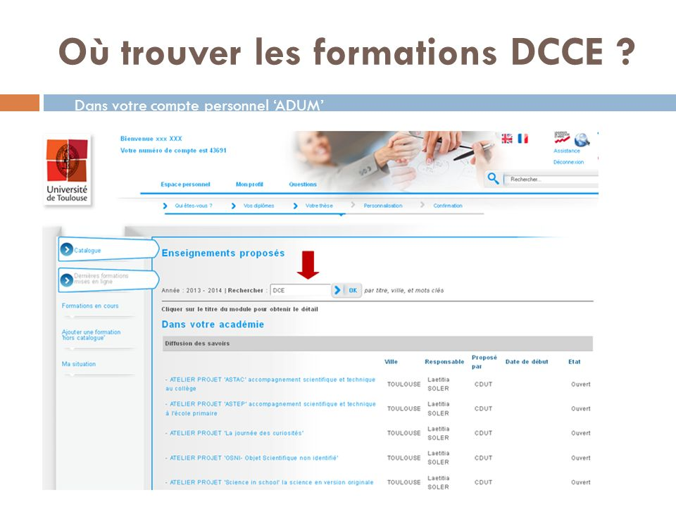 Où trouver les formations DCCE