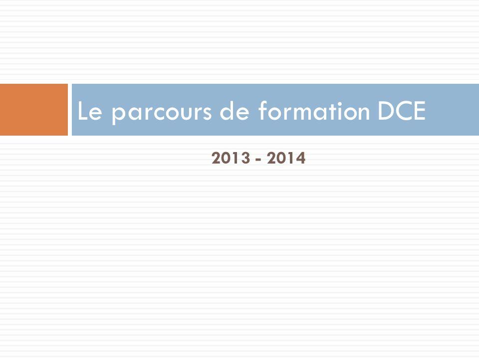 Le parcours de formation DCE