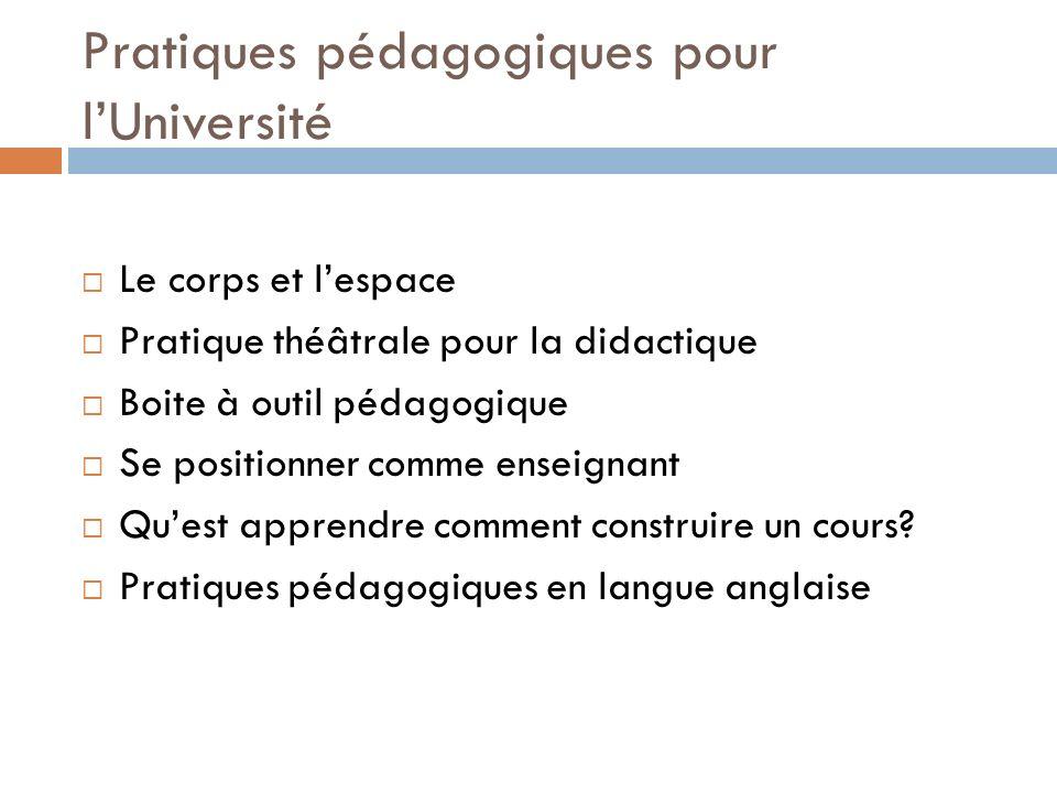 Pratiques pédagogiques pour l'Université