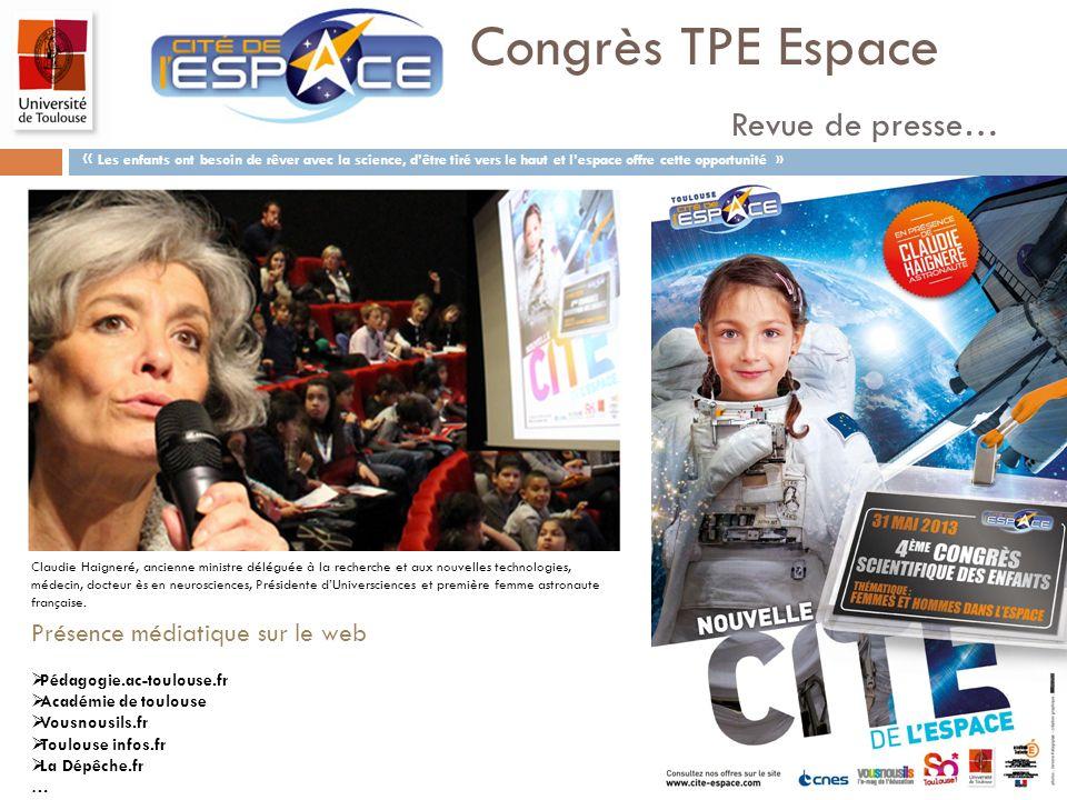 Congrès TPE Espace Revue de presse…