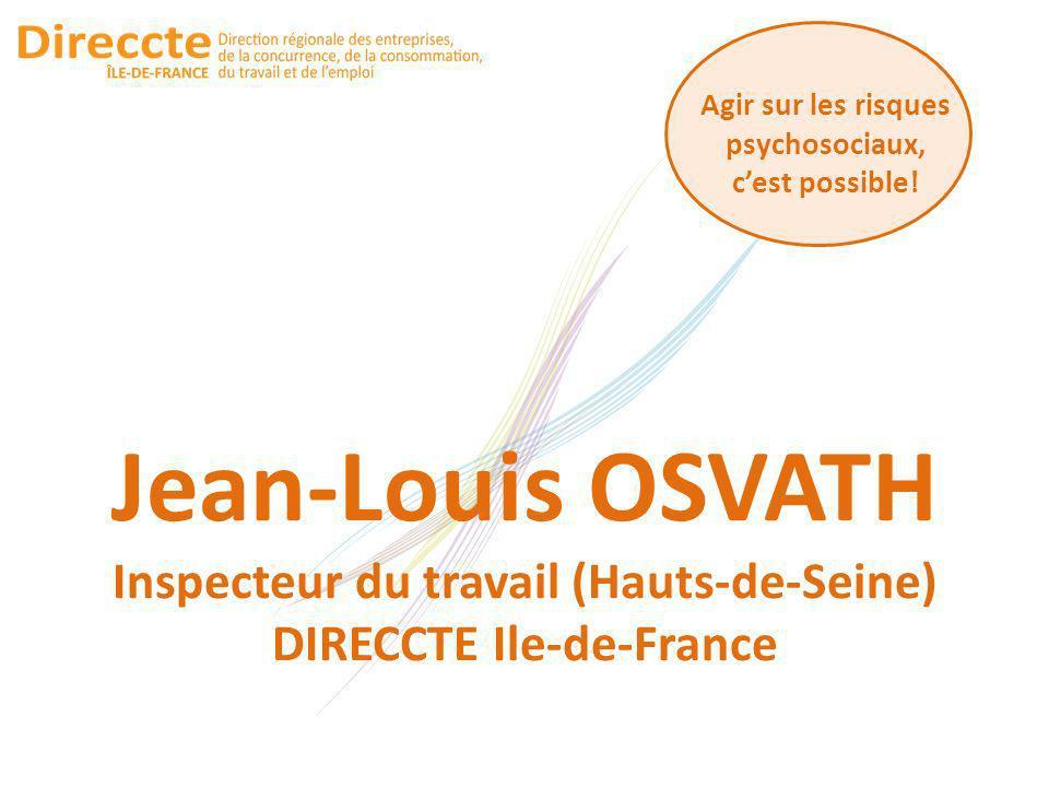 Jean-Louis OSVATH Inspecteur du travail (Hauts-de-Seine)