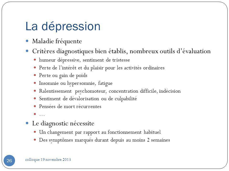 La dépression Maladie fréquente